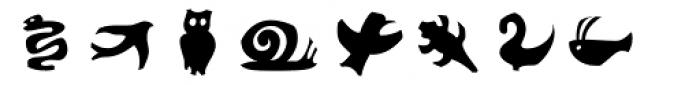 Frutiger Symbols Positive Font LOWERCASE
