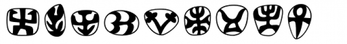 Frutiger Symbols Font UPPERCASE