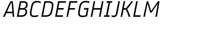 FS Truman Light Italic Font UPPERCASE
