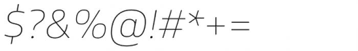 FS Hackney Thin Italic Font OTHER CHARS