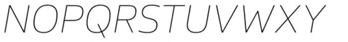 FS Hackney Thin Italic Font UPPERCASE