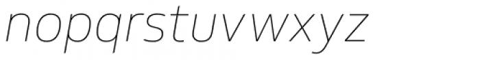 FS Hackney Thin Italic Font LOWERCASE