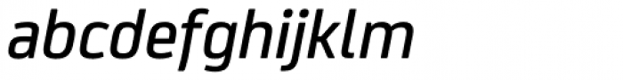 FS Joey Pro Medium Italic Font LOWERCASE