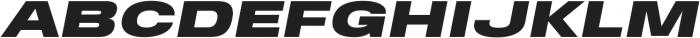 FT EXPO Black Oblique otf (900) Font UPPERCASE