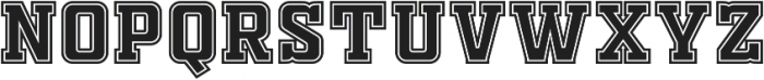 FTY OLD SPORT COLLEGE otf (400) Font UPPERCASE