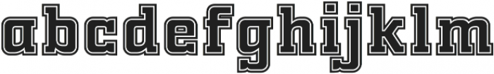 FTY OLD SPORT COLLEGE otf (400) Font LOWERCASE