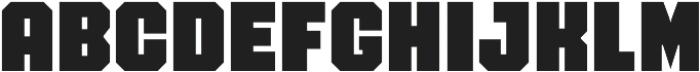 FTY OverKill Machined otf (400) Font UPPERCASE