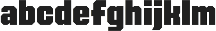 FTY OverKill Machined otf (400) Font LOWERCASE