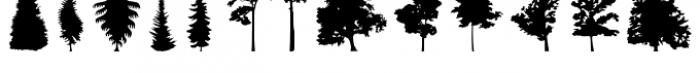 FT Hidden Forest Font LOWERCASE