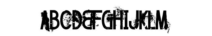 FT Twisted Ontogenesis Demoversion Font UPPERCASE