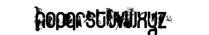 FT Twisted Ontogenesis Demoversion Font LOWERCASE