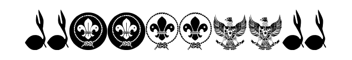 FTF Indonesiana Scout vl.1 Font OTHER CHARS