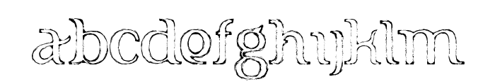 FTF Indonesiana Sketch Serif v.1 Font LOWERCASE