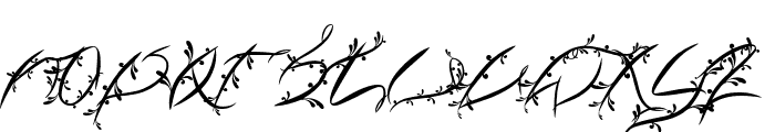 FTF Leafy Lopstonesia Font UPPERCASE
