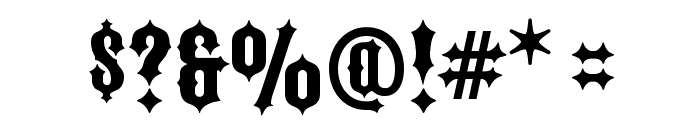 FTY IRONRIDER NCV Font OTHER CHARS