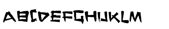FT Stamper Regular Font UPPERCASE