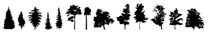 FT Hidden Forest Regular Font LOWERCASE