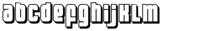 FT Bronson Shadow Font LOWERCASE