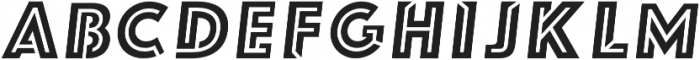 FUTURE LINES REG Italic otf (400) Font LOWERCASE