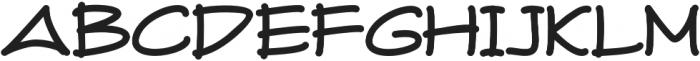 Fuki Maki Regular otf (400) Font UPPERCASE
