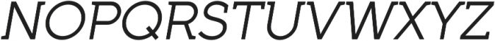 Full Neue LC 50 Italic otf (400) Font UPPERCASE