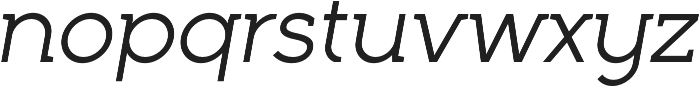 Full Neue LC 50 Italic otf (400) Font LOWERCASE