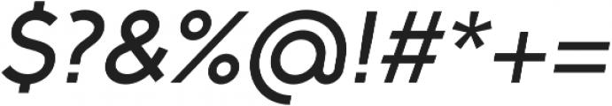 Full Neue SC 70 Medium Italic otf (500) Font OTHER CHARS