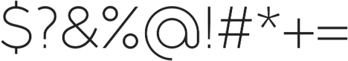 Full Sans LC 30 Light otf (300) Font OTHER CHARS