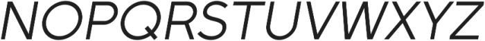 Full Sans LC 50 Italic otf (400) Font UPPERCASE
