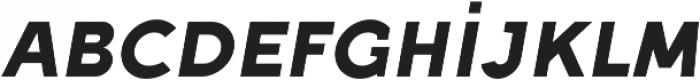 Full Sans SC 90 Bold Italic otf (700) Font LOWERCASE