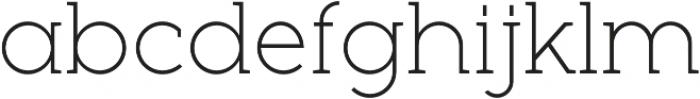 Full Slab LC 30 Light otf (300) Font LOWERCASE