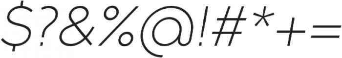 Full Slab SC 30 Light Italic otf (300) Font OTHER CHARS