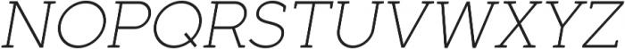Full Slab SC 30 Light Italic otf (300) Font UPPERCASE