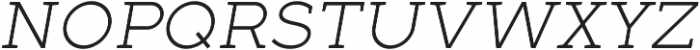 Full Slab SC 30 Light Italic otf (300) Font LOWERCASE