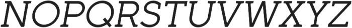 Full Slab SC 50 Italic otf (400) Font UPPERCASE