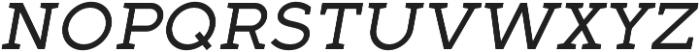 Full Slab SC 50 Italic otf (400) Font LOWERCASE