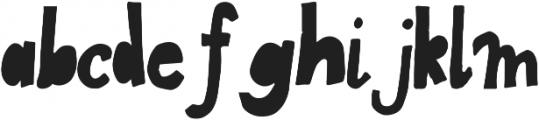 FunBlocksBlack ttf (900) Font LOWERCASE