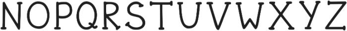 Funnyberry Regular otf (400) Font UPPERCASE
