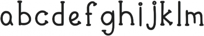 Funnyberry Regular otf (400) Font LOWERCASE
