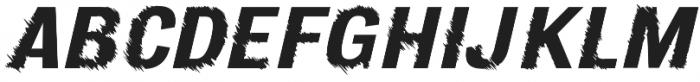 Furrow Oblique otf (400) Font UPPERCASE