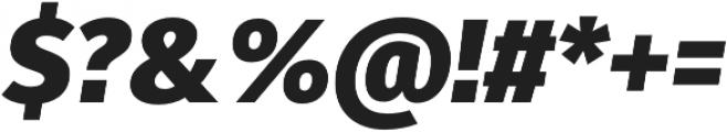 Fuse Black Italic otf (900) Font OTHER CHARS