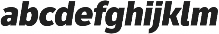 Fuse Black Italic otf (900) Font LOWERCASE