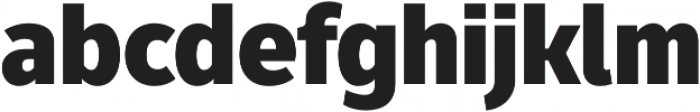 Fuse Black otf (900) Font LOWERCASE