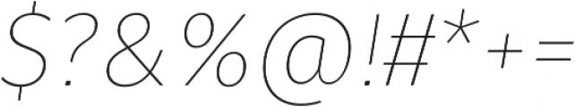 Fuse Thin Italic otf (100) Font OTHER CHARS