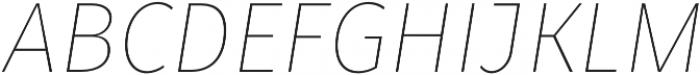 Fuse Thin Italic otf (100) Font UPPERCASE