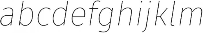 Fuse Thin Italic otf (100) Font LOWERCASE
