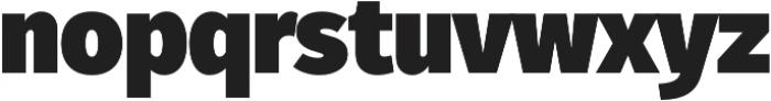 Fuse UltraBlack otf (900) Font LOWERCASE
