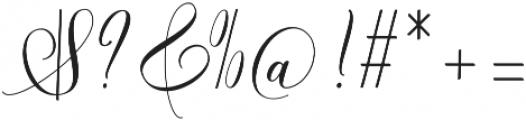 Futsal Script Regular otf (400) Font OTHER CHARS