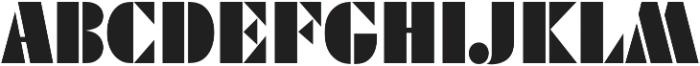 Futura Black D Regular otf (900) Font UPPERCASE