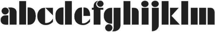 Futura Black D Regular otf (900) Font LOWERCASE
